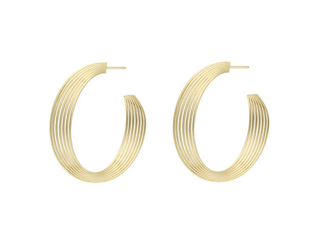"18K Yellow Gold ""Tresor"" Earrings"
