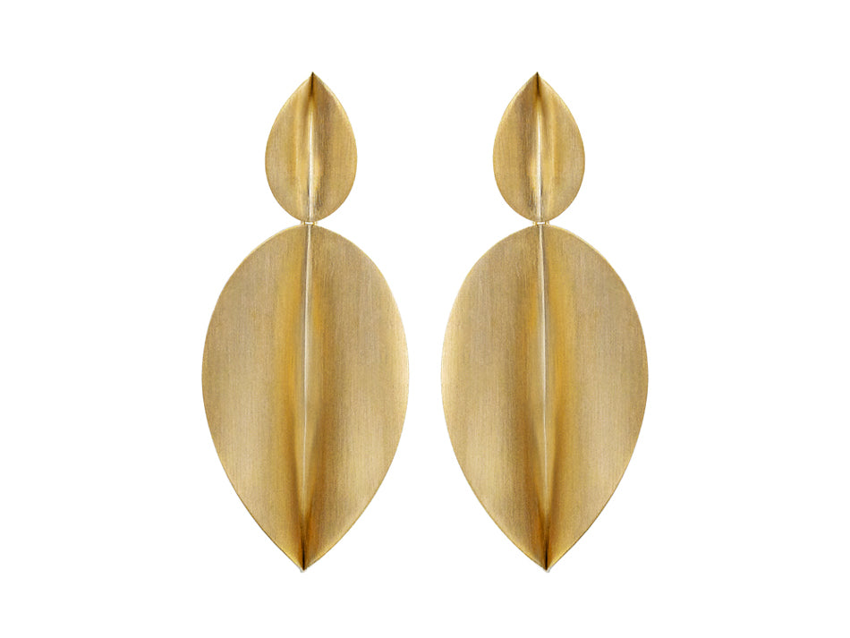 "Antonio Bernardo Yellow Gold ""Atena"" Earrings"