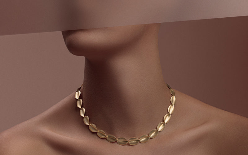 "18K Yellow Gold ""Atena"" Necklace"