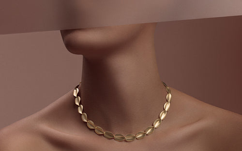 "Antonio Bernardo Yellow Gold ""Atena"" Necklace"