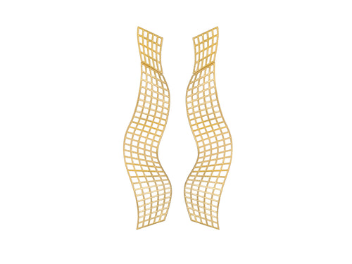"Antonio Bernardo 18K Yellow Gold ""Wave"" Earrings"