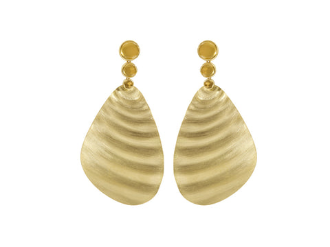"18K Yellow Gold and Pearl ""Moon"" Earrings"