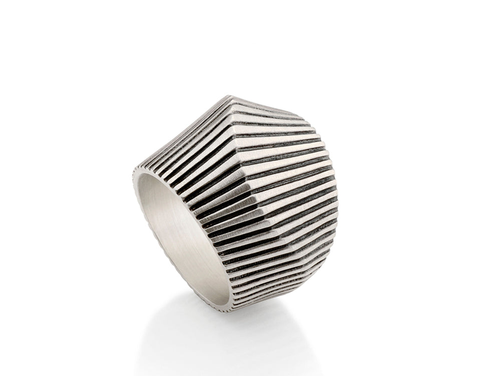 Modern Dome Ring in Sterling Silver