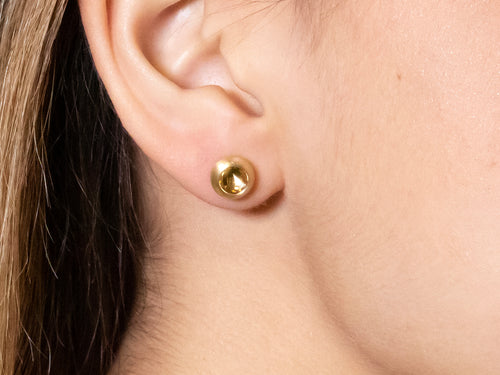 "Gold ""Inside"" Stud Earrings"