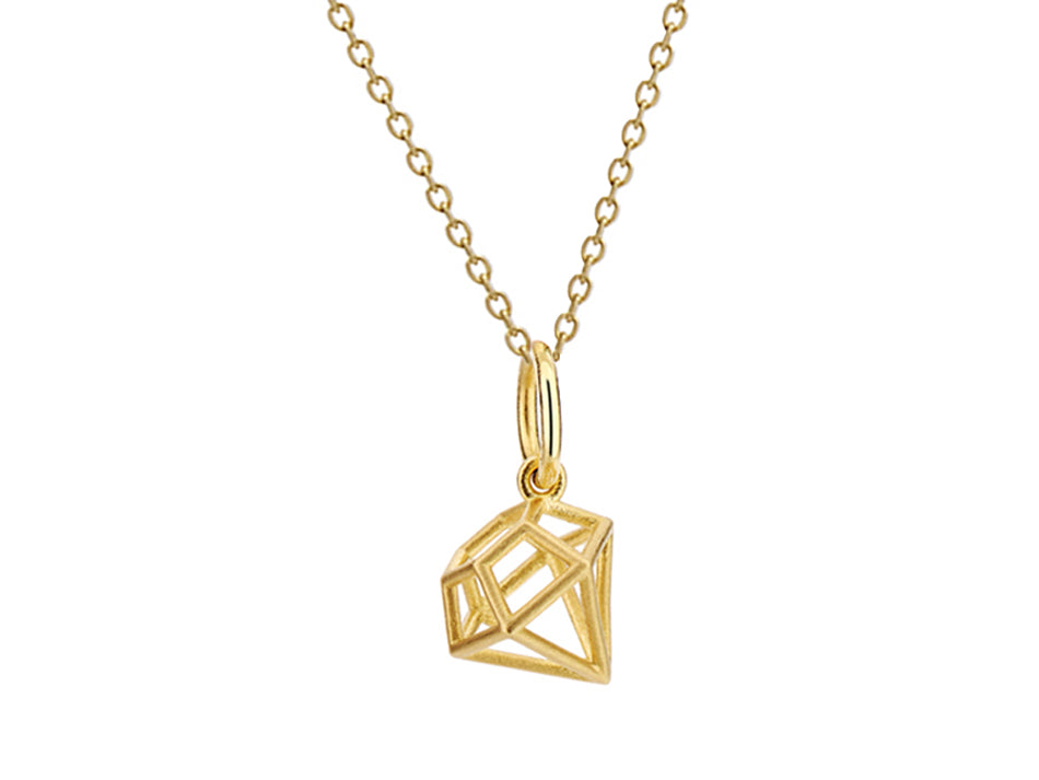 Antonio Bernardo Yellow Gold Diamond Shape Pendant Necklace