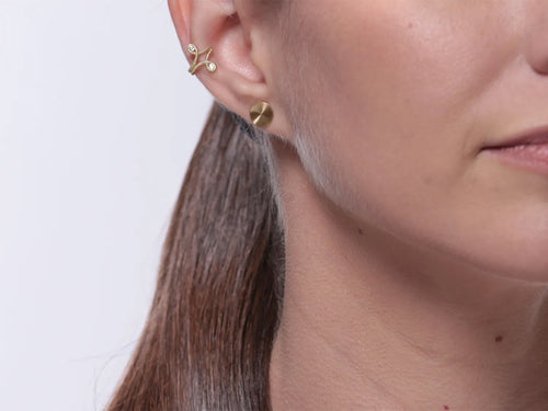 "Gold ""Flash"" Stud Earrings"