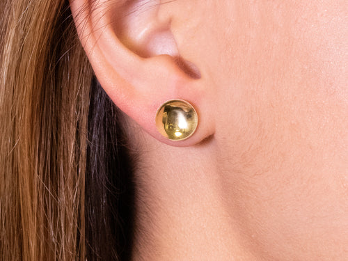 """Luminoso"" Disc Stud Earrings"