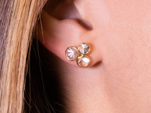"Quartz ""Celebration"" Stud Earrings"