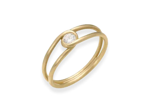 "18K Yellow Gold ""Nos Dois"" Ring"