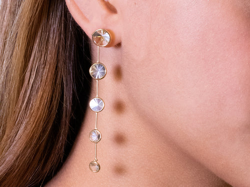 Bezel Quartz Celebration Earrings