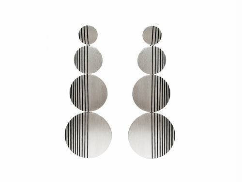 "Silver ""Horizon"" Statement Earrings"