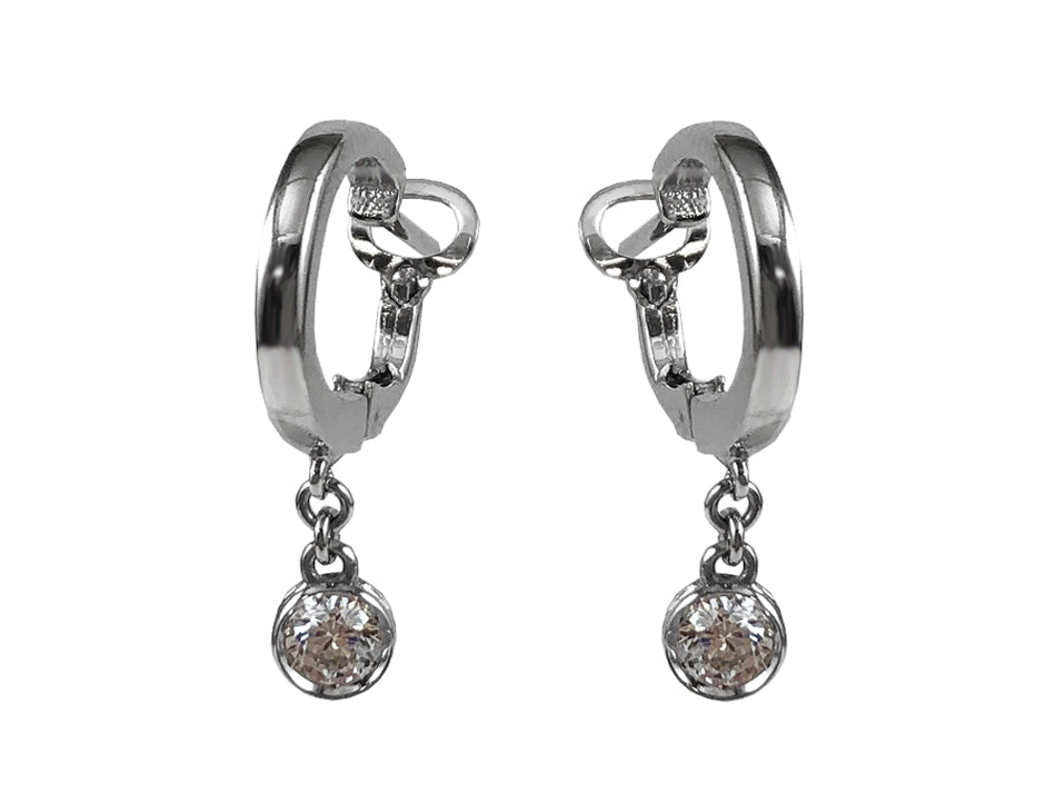 14K White Gold and Diamond Earrings in Washington DC
