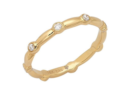 Beverly K Yellow Gold and Diamond Wedding Band in Washington DC