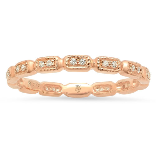 Beverley K Rose Gold and Diamond Wedding Band in Washington DC