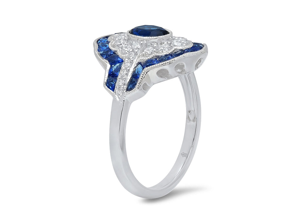 White Gold, Diamond and Sapphire Ring in Washington DC