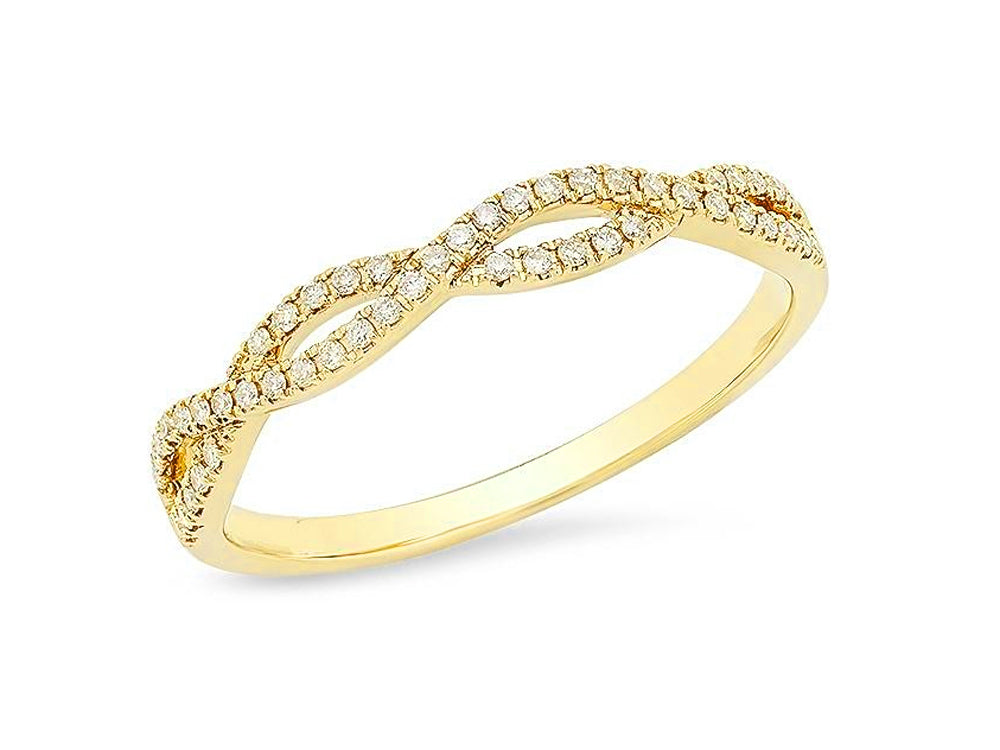 Yellow Gold and Diamond Wedding Band in Washington DC