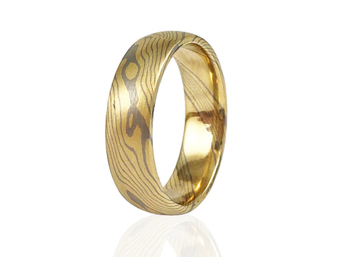 Unique wood pattern mens wedding band in Washington DC