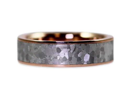 Rose Gold and Stainless Steel Men's Wedding Band
