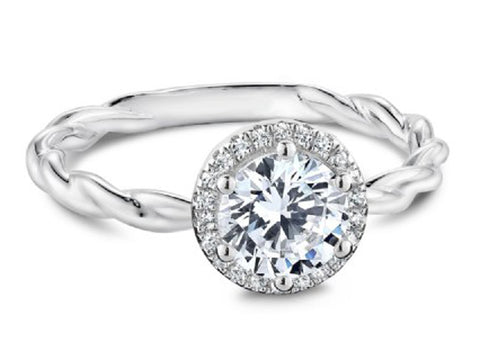 "Pear-shaped Gray Diamond ""Aria"" Engagement Ring"