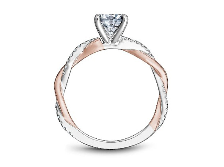 White and Rose Gold Engagement Ring at the Best Jewelry Store in Washington DC