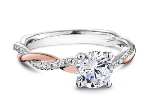 18K White Gold Solitaire Engagement Ring Mounting