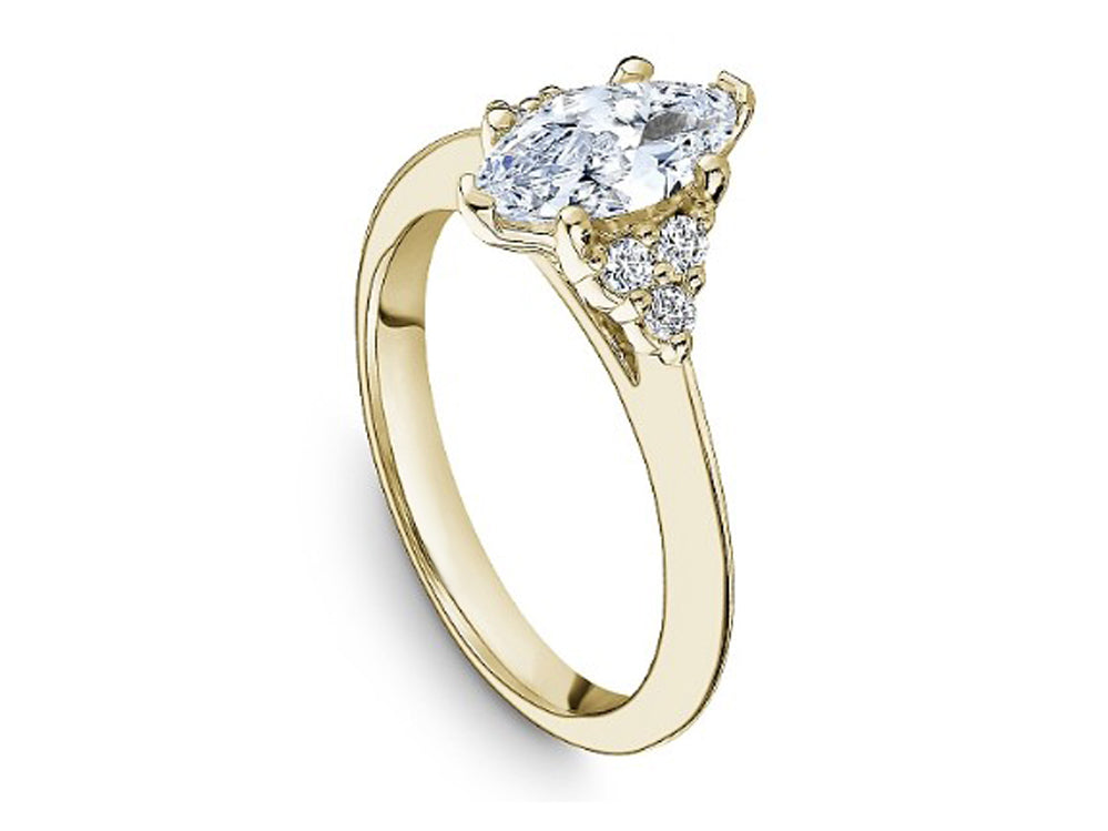 Yellow Gold Marquis Diamond Engagement Ring at the Best Jewelry Store in Washington DC