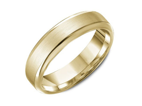 18K Yellow Gold and Diamond Wedding Band