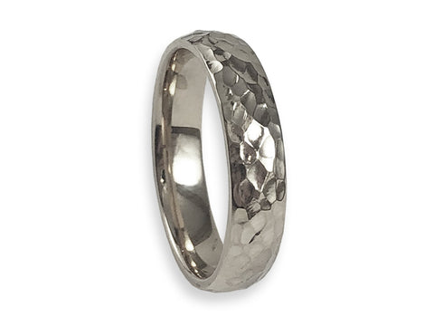 Palladium, Sterling Silver and Diamond Cube Men's Wedding Ring