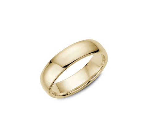 "18K Yellow Gold and Diamond ""Filos"" Men's Wedding Band"