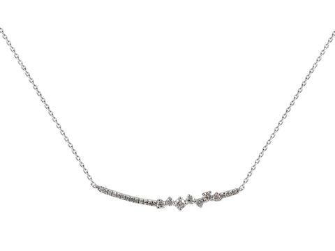 "18K Yellow Gold and Diamond ""Grecian"" necklace"