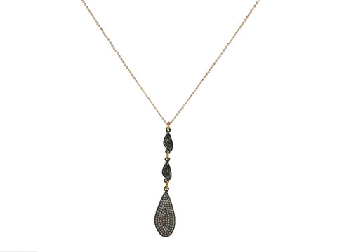 Asymmetric Diamond Duo Necklace