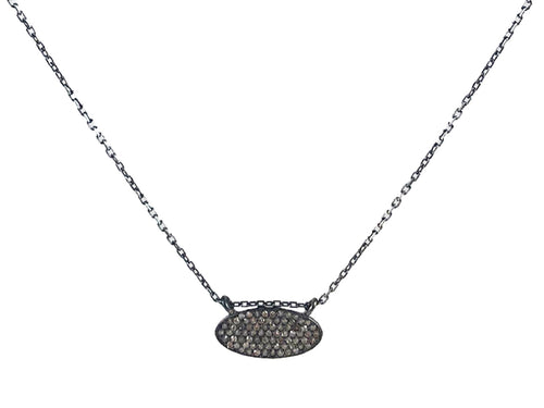 Oxidized Sterling Silver and Diamond Necklace