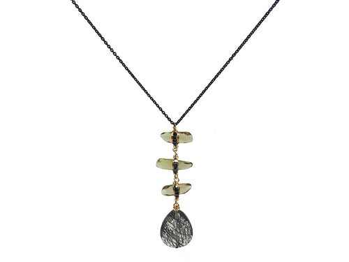 Beautifully Balanced Rutilated Quartz Teardop Necklace