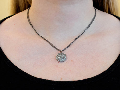 Infinite Spiral Diamond Necklace