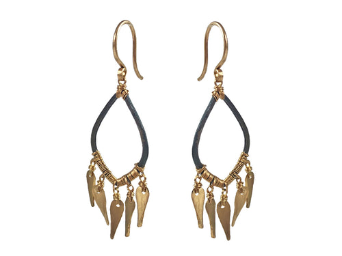 Dana Kellin Oxidized Sterling Silver Earrings