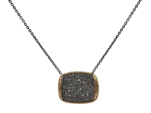 Dana Kellin Druzy Quartz Necklace