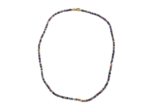 14K Yellow Gold and Sapphire Necklace