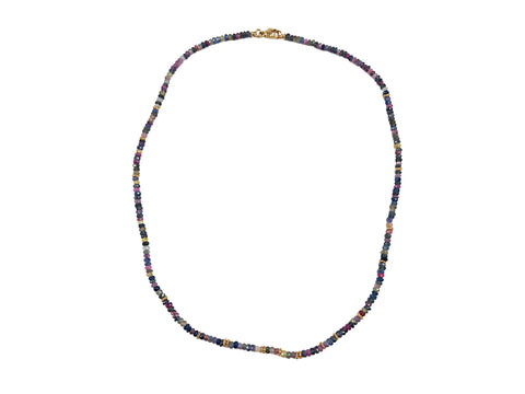 14K Yellow Gold, Burmese Ruby and Spinel Necklace