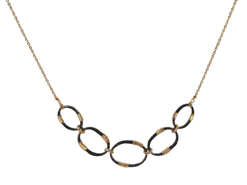 Dana Kellin Gold and Oxidized Sterling Silver Necklace
