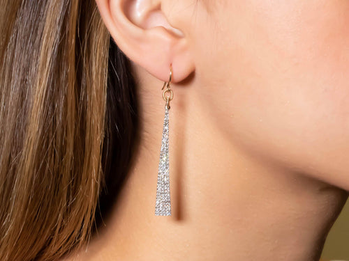 Gold, Silver and Diamond Earrings