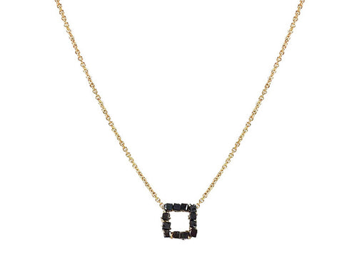 Dana Kellin 14K Yellow Gold and Black Diamond Necklace