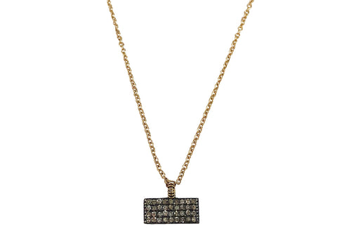 14K Rose Gold and Diamond Necklace