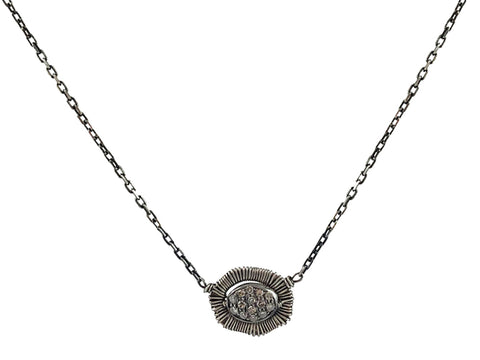 "Silver ""Lotus"" Necklace"
