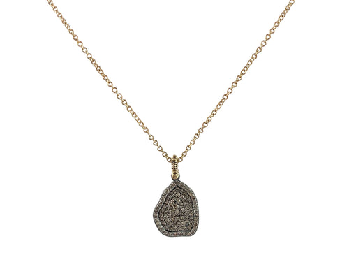 Gold, Silver and Diamond Necklace