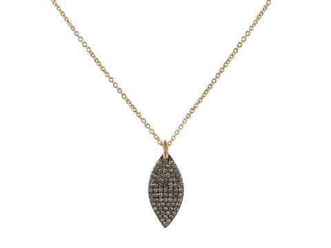 Long Silver, Gold and Diamond Statement Necklace