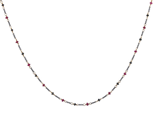 Ruby and Black Diamond Necklace