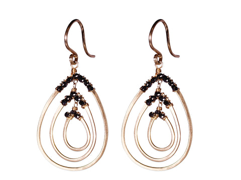 """Vibe"" Hoop Earrings in Sterling Silver"