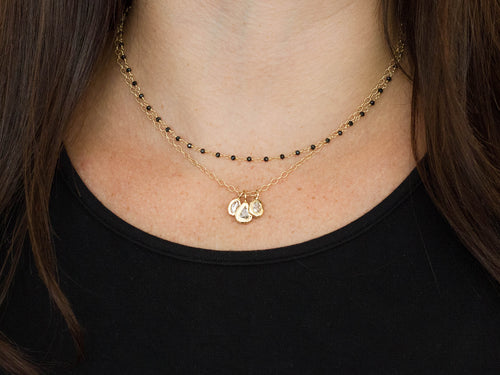 Dana Kellin 14K Yellow Gold and Black Spinel Necklace