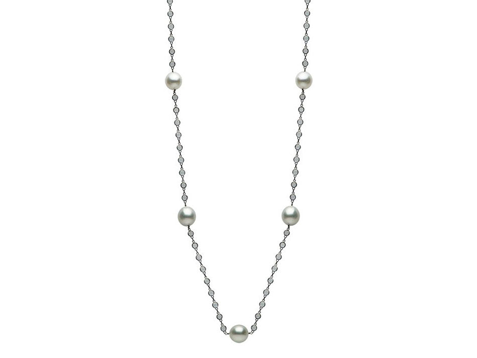 Blackened 14k white gold south sea pearl and white topaz necklace blackened 14k white gold south sea pearl and white topaz necklace aloadofball Choice Image