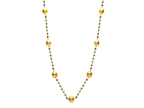 14K Yellow Gold and Silverite Chain